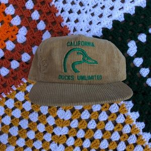 21df213a723 Accessories - Vintage Corduroy Ducks unlimited hat.
